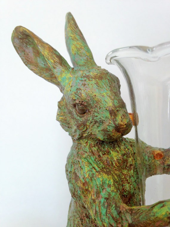Bunny Rabbit Bud Vase Vintage Bud Vase Rabbit Sculpture