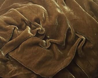 ANTIQUE GOLD Silk Velvet Fabric fat 1/4
