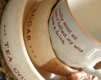 Cream, Sugar, and Cup Set
