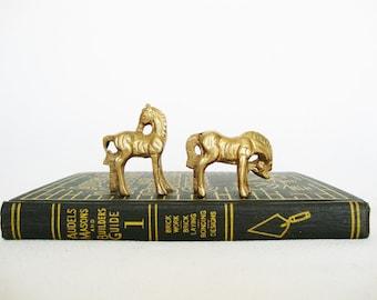 miniature brass horses