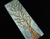 Silver Tree- Mixed Media Art Painting