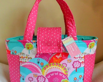 Large Happy Hills and Polka Dots Diaper Bag Tote