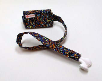 Splatter paint TuneTube.  Earbud cord organizer for iPhone or iPod.  Cord keeper.  Earbud holder.  Earbud case.