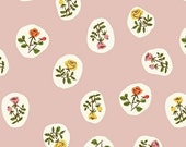 3 day SALE- 30% off Everything- Code: SALE30- Tiger Lily -Heather Ross- Scattered Floral in Blush -Windham Fabrics - 40930-4 - 1/2 yard
