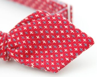 red diamond point freestyle bow tie