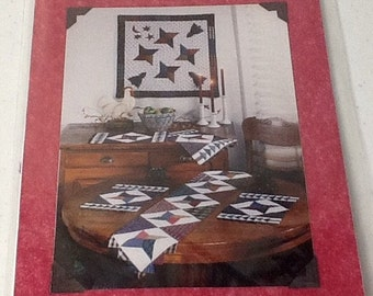 Quilted Table Runner, Placemats and Wall Quilt Pattern, uncut