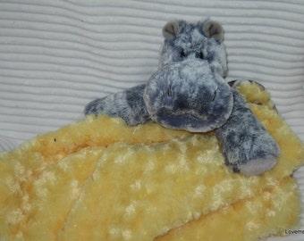 Security Blanket, baby blanket, luvi, lovie - Grey Hippo