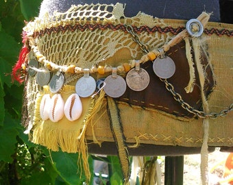 Tribal Belly Dance - Mixed Media Style Belt