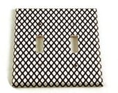 Double Light Switch Cover Wall Decor Switchplate Switch Plate in  Fishnet (087D)