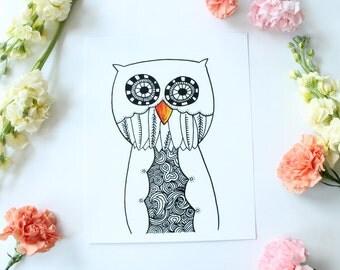 Owl - 8x10 Print