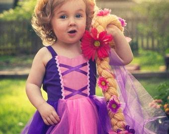 RAPUNZEL  dress, Rapunzel Costume, princess Dress, Princess Play Dress, handmade  Lover Dovers, Rapunzel birthday party dress