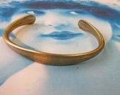 Raw Brass Bangle Mens Bracelet with Tapered ID Blank 2069RAW x1