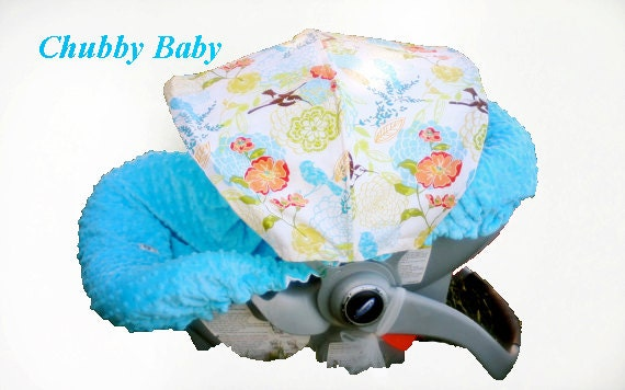 Infant Car Seat Cover, Baby Car Seat Cover in Hummingbird Love