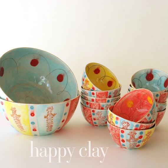 Large Ceramic Serving Bowl in Gigi the Parisian Gypsy