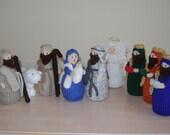 SALE   Hand knitted Christmas, Xmas Nativity display