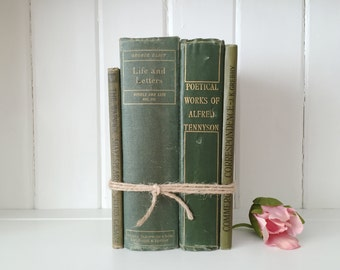 Set of four old vintage books  - wedding props
