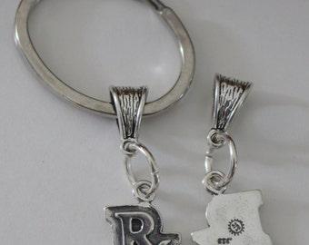 Sterling RX Key Ring - Key Chain -  Education, Graduation, Pharmacy