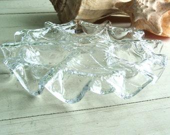Vintage MUURLA Finnish Glass Candleholder Finland