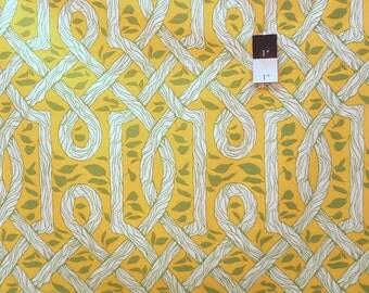 Joel Dewberry JD29 Deer Valley Vinework Gold Cotton Fabric 1 Yd