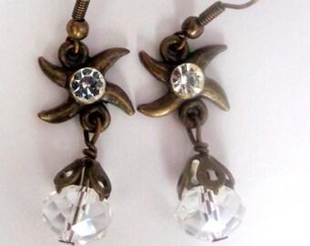 Dangle Earrings,Star Earrings Earrings, Crystal Earrings