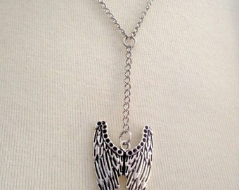 Angel Wings Necklace, Angel Necklace, Wings Pendant, Grief Jewelry