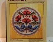 Tulip Bouquet Stitch and Latch Wall Hanging Kit Latch Hook Wonder Art
