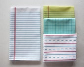 "White Lined ""Paper"" Towel - Decorative Cotton Tea Towel // Lined Notebook Paper // College Ruled // Handwriting // School"
