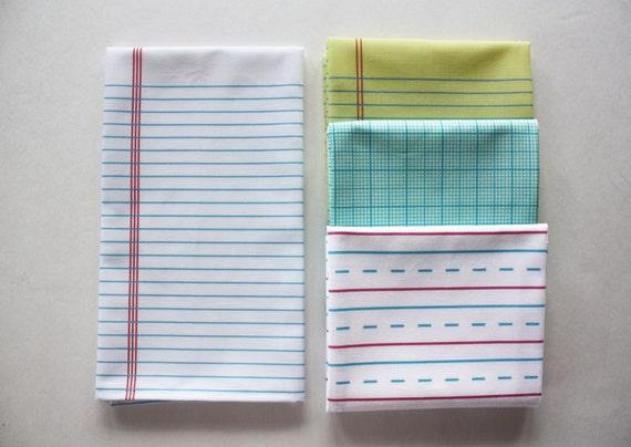 white lined paper towel decorative cotton tea by dirtsastudio