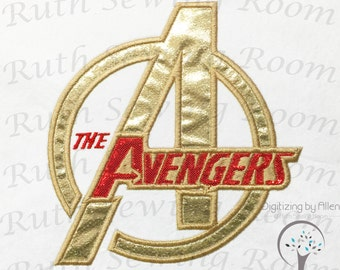 The Avengers logo Combined  Applique Embroidery Design This not a fill and NOT A PATCH