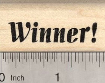 Winner Rubber Stamp D28015 Wood Mounted