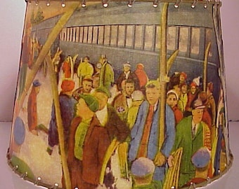 Old Forge Ski Train, Lamp Shade, 8 x 10, Rustic Decor