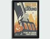 Break New Ground -12x18 screen print poster