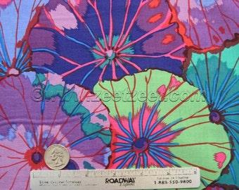 Kaffe Fassett LOTUS LEAF Purple - Cotton Quilt Fabric by the Yard, Half Yard, or Fat Quarter Fq Green Blue