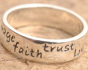 Courage Faith Trust Love Ring