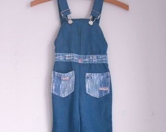 Vintage toddler girl overalls denim