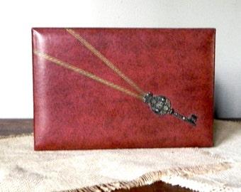 Vintage Swank Jewelry Box, Made in Sweden, Phillippe Green , Man Organizer for Jewelry, Jewelry Storage