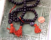 Bone Mala Tibet 8mm Black Brown 108 Beads Full Mala
