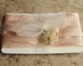 Narrow Blush Pink Silk Ribbon  3 Yards Charm Necklace Ribbon Lingerie Sewing Trim - Corset Ribbon - Corsage Trim