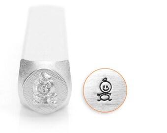 Baby Stick Figure Design Stamp, Metal Stamp, 6mm, Carbon Steel Stamp, ImpressArt Design Stamp, SC159-E-6MM, baby stamps, stick figure