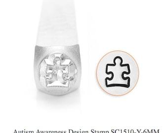 Autism Awareness Design Stamp, SC1510-Y-6MM, Symbol and Shape Design Stamp, Metal Stamp, Steel Stamps, ImpressArt