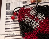 Harley Quinn Chainmaille Dice Bag