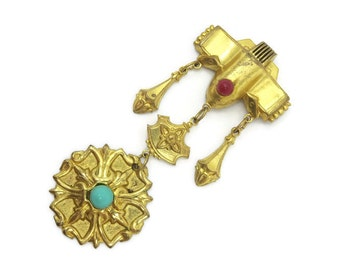 Costume Jewelry Brooch - Etruscan Revival, Art Deco