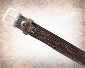 Oak & Acorn Belt - Russet - Leather Belt, Brown Leather Belt, Mens Leather Belt, Women's Leather Belt, Genuine Leather Belt