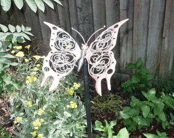Yard Art - copper butterfly