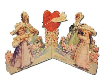 Vintage Standing Valentine Card Made In USA 1990s 3-D Easel Back CD 207