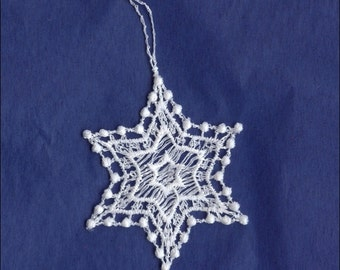Germany Woven Cotton Thread Christmas Snowflake Ornament For Crafting  LHS0015