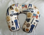 Adult Travel/Recliner/Hospital Bed Pillow in Police Man Fabric