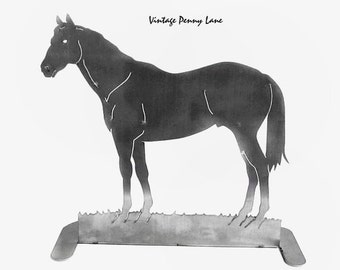 Handmade Horse Sculpture, Silver / Steel Metal