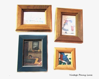 Vintage Miniature Wood Framed Art Prints