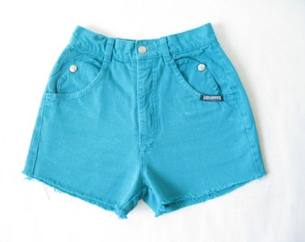 Vintage 80's Denim High Rise Cut Off Shorts. X Small